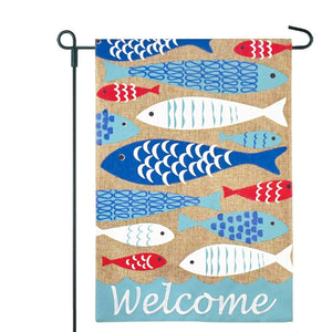 Friendly Fish Garden Flag