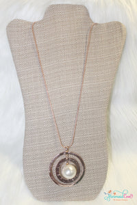 Hammered Pearl Necklace