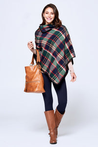 Harlow Plaid Poncho - Available in 3 Colors!