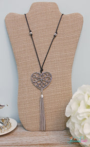 Heart Tassel Necklace