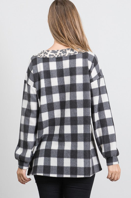 Heartland Checkered Top in Ivory