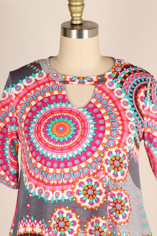 Hypnotic Mandala Tunic Top