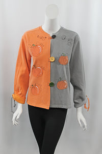Hand Painted Pumpkin Patch Cardigan