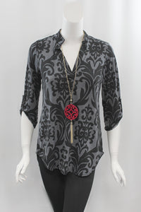 Midnight Damask Top