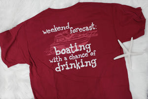 Boating with a Chance of Drinking Men's Tee