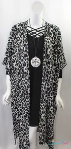 Leopard Animal Print Long Cardigan