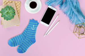 Anchor Stripe Socks