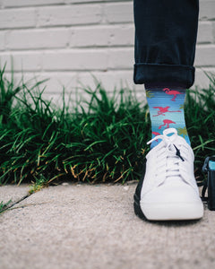 Men's Palm Flamingo Crew Socks