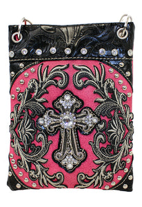 Blinged Out Crossbody - Fuchsia
