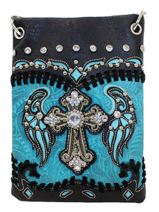 Blinged Out Crossbody - Turquoise