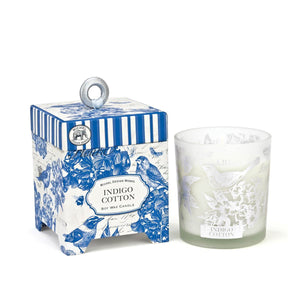 Indigo Cotton 6.5 oz. Soy Wax Candle