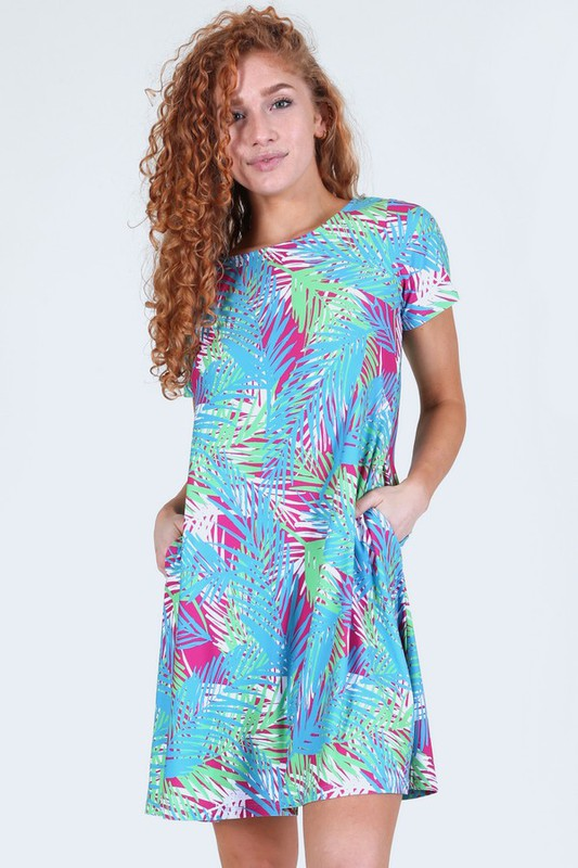 Island Breeze Dress - Magenta