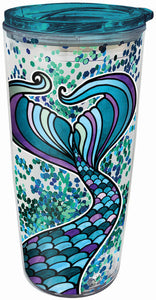 Mermaid Glitter Travel Tumbler
