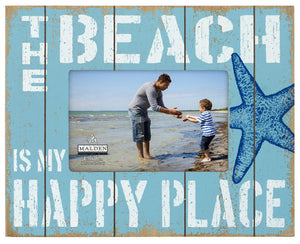 The Beach is my Happy Place 4X6 Photo Frame