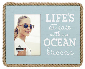 Life's at Ease with an Ocean Brezee 4X6 Photo Frame