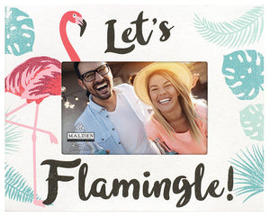 Let's Flamingle 4X6 Photo Frame
