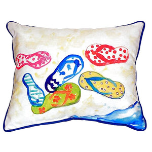 Large Outdoor Flip Flop Pillow