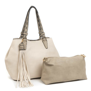 Aliza Large Tassel 2 in 1 Satchel