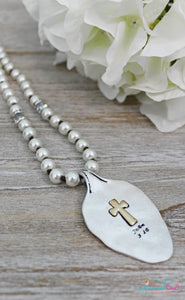 John 3:16 Pearl Spoon Necklace