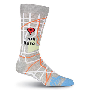Men's I Am Here Crew Socks