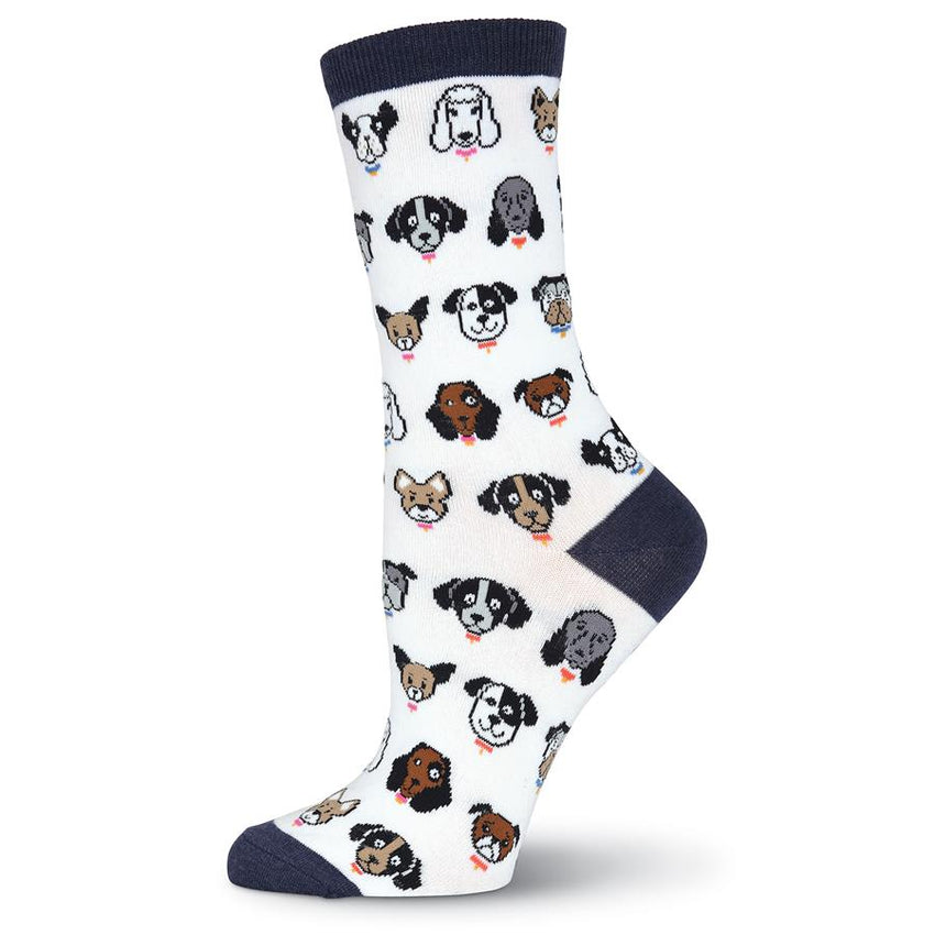 Dog Profile Crew Socks