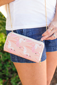 Sadie Flamingo Wallet / Crossbody