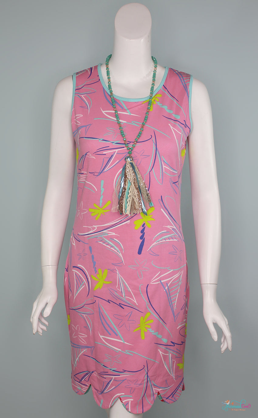 Kiki Reversible Dress - Wild Flamingo & Crusin'