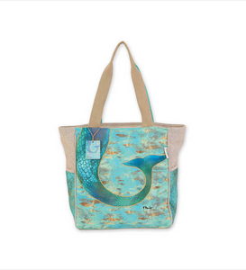 Tails and Scales Shoulder Tote