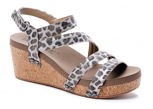 Corkys Lifeguard Wedge in Silver Leopard