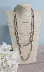 Long Beaded Necklace - Available in 2 Colors