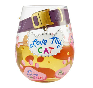 Love My Cat Stemless Glass