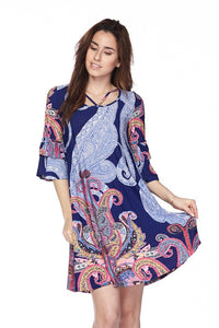 Loyal Blue Paisley Dress
