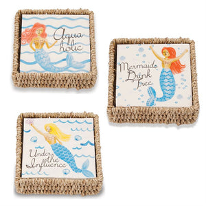 Mermaid Cocktail Napkin & Basket Set