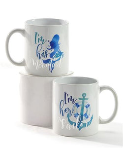 Sailor / Mermaid Mug Set