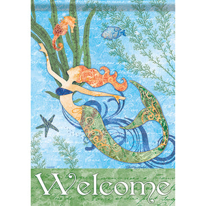 Mermaid Welcome Flag - Large