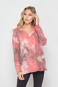 Mulberry Charcoal Tie Dye Top
