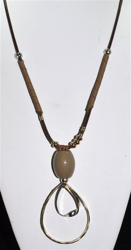 Tan Cord Necklace