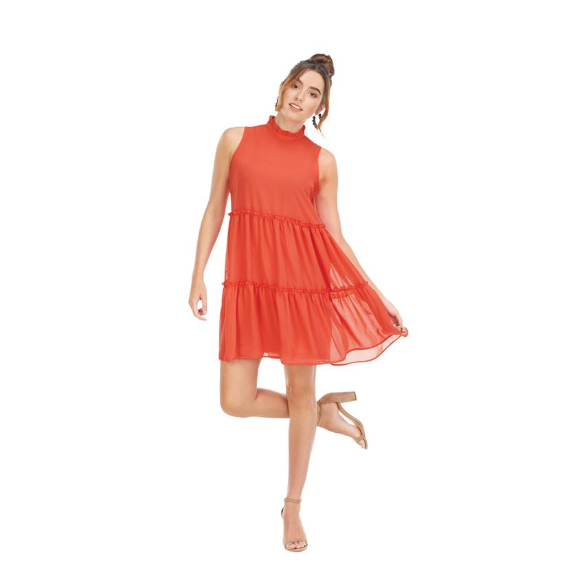 Naomi Ruffle Dress