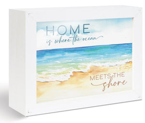 Ocean & Shore Glossy Sign