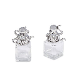 Octopus Glass Salt & Pepper Set