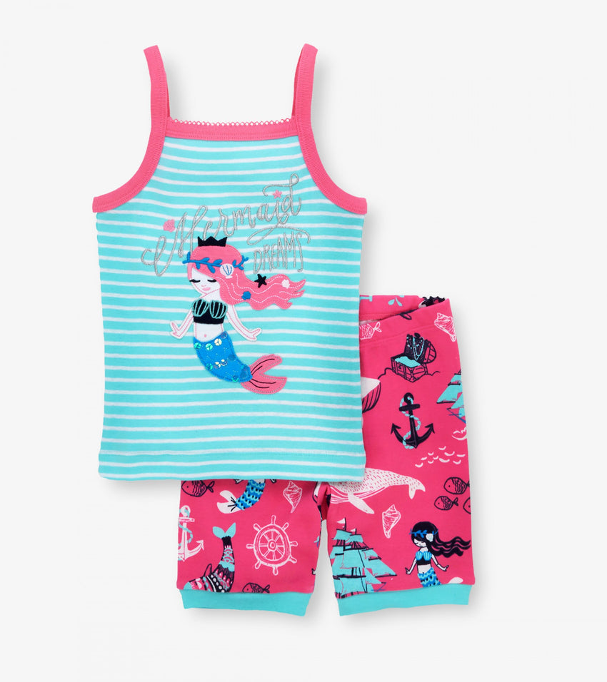 Sweet Mermaid Organic Cotton Tank Pajama Set