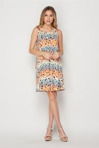 Peach Mist Sleeveless Dress