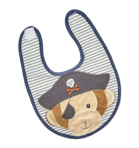 Pete the Pirate Monkey Bib