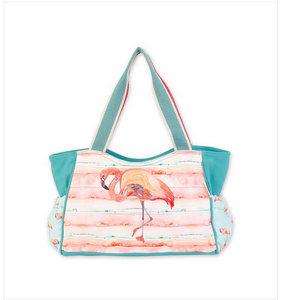 Pink Flamingo Scoop Tote