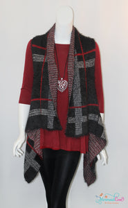 Plaid Eyelash Vest - Available in 3 Colors!
