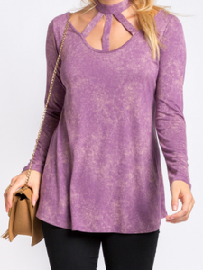 Washed Plum Triple Threat Top