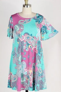 Punchy Paisley Dress