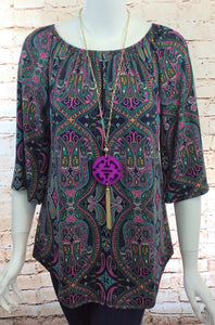 Purple Paisley Top