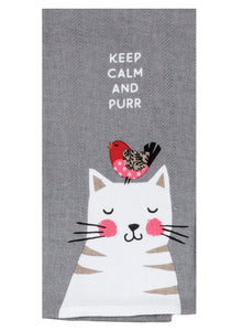 Purr Tea Towel