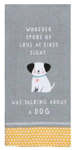 Dog Patch First Love Tea Towel